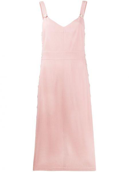 Платье миди розовое на пуговицах Rag & Bone