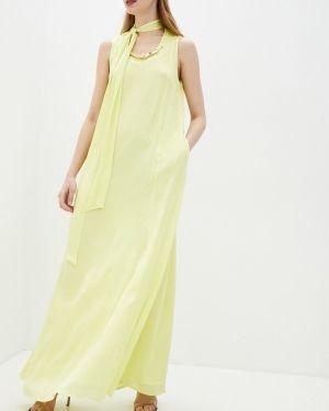 Желтое вечернее платье Cavalli Class