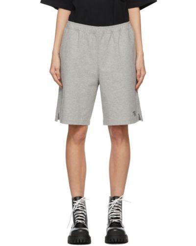 Хлопковые черные шорты с карманами Vetements