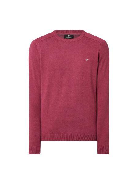 Prążkowany różowy sweter bawełniany Fynch-hatton