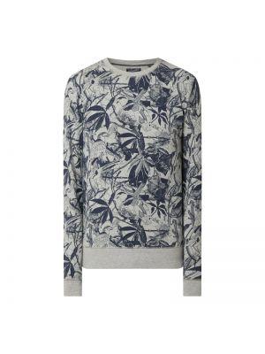 Prążkowana bluza bawełniana turkusowa Petrol