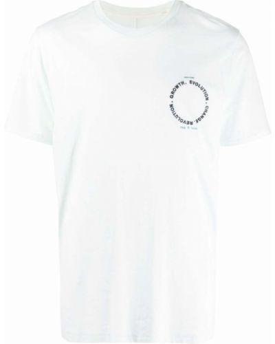 T-shirt z printem - zielona Rag & Bone