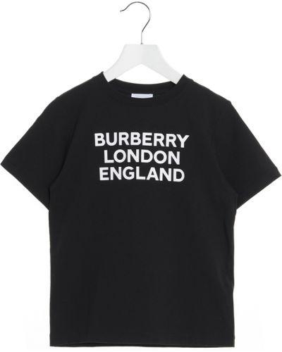 T-shirt - czarna Burberry