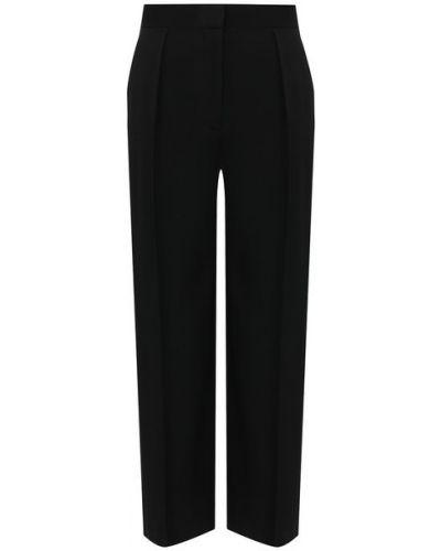 Прямые со стрелками черные брюки из вискозы The Row
