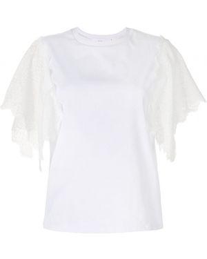 Блузка с короткими рукавами - белая Le Ciel Bleu