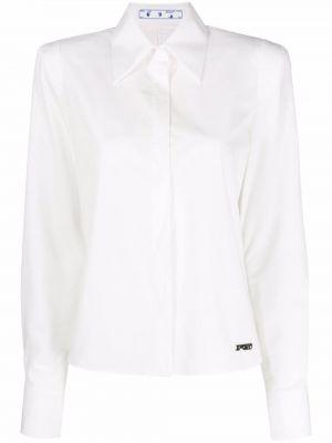 Хлопковая белая рубашка с длинными рукавами Off-white