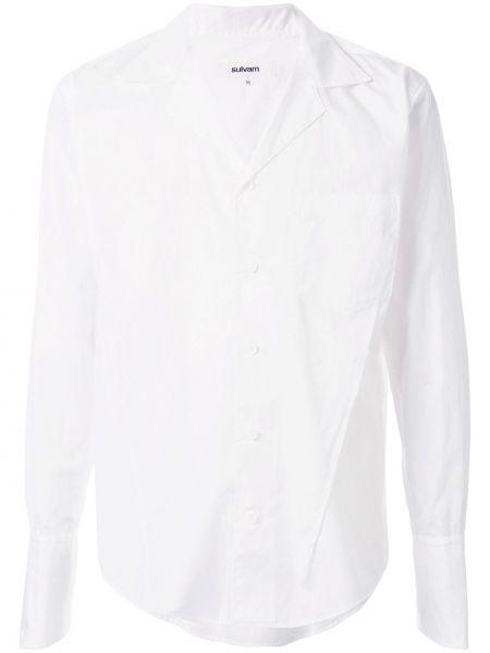 Biała koszula bawełniana z długimi rękawami Sulvam