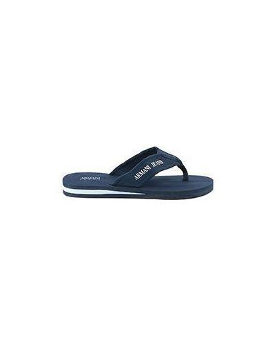 Синие сланцы Armani Jeans