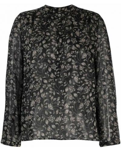 Koszula w kwiaty - czarna Isabel Marant Etoile