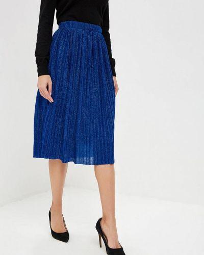 Плиссированная юбка синяя Yumi