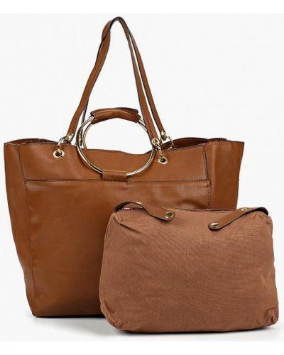 Кожаная сумка шоппер из искусственной кожи Piazza Italia