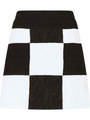 Юбка мини с завышенной талией - белая Dolce & Gabbana