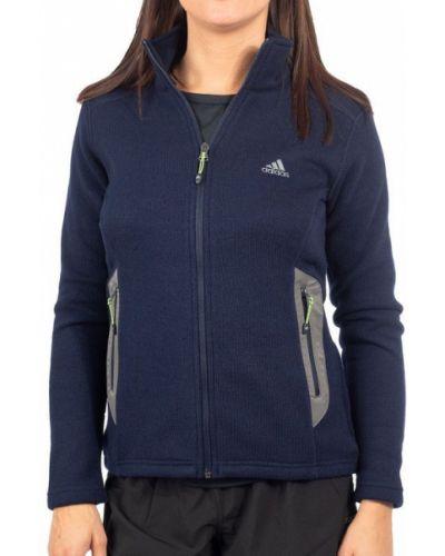 Ciepła niebieska bluza polarowa Adidas