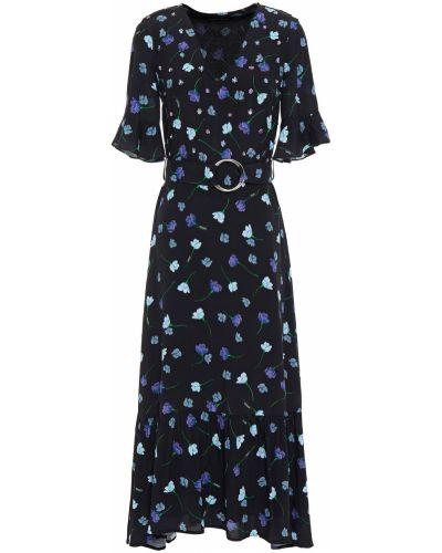 Платье миди с пайетками - черное Markus Lupfer
