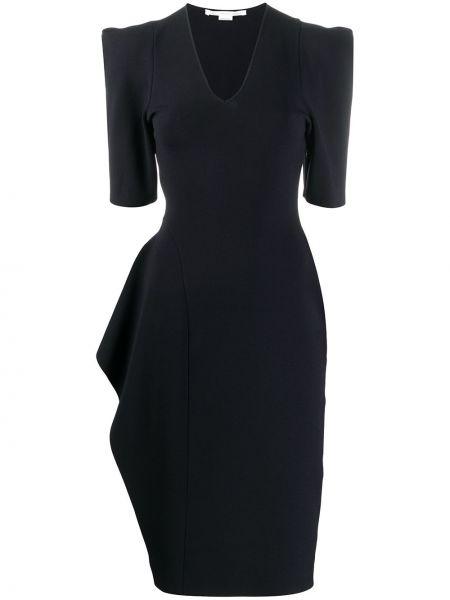 Синее платье из полиэстера Stella Mccartney
