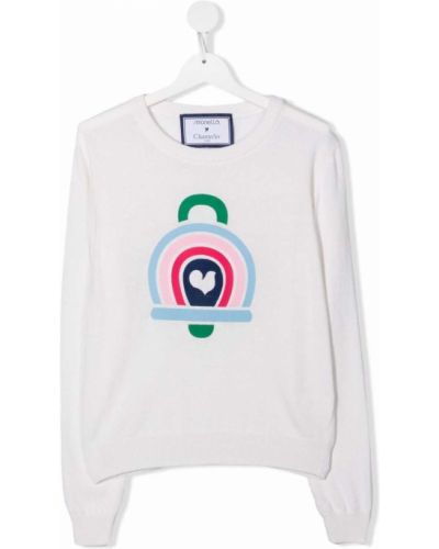 Biała koszulka z wiskozy Simonetta