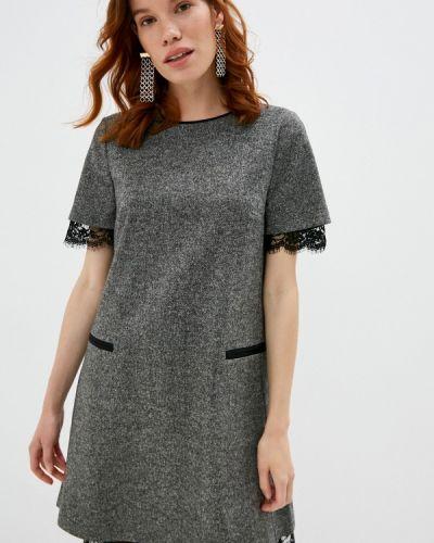 Повседневное серое повседневное платье Twinset Milano