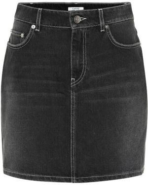 Юбка мини джинсовая пачка Ganni