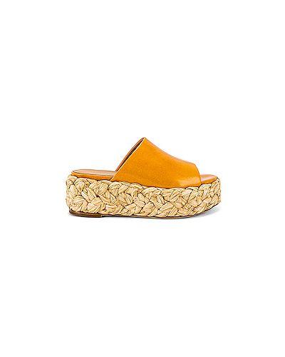 Сандалии соломенный оранжевый Paloma Barcelo