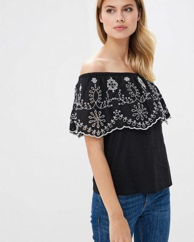Блузка с открытыми плечами черная индийский Ovs