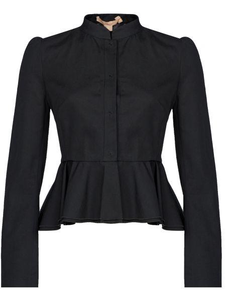 Хлопковый черный пиджак на кнопках Brock Collection
