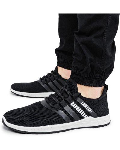 Текстильные кроссовки - черные Bromen