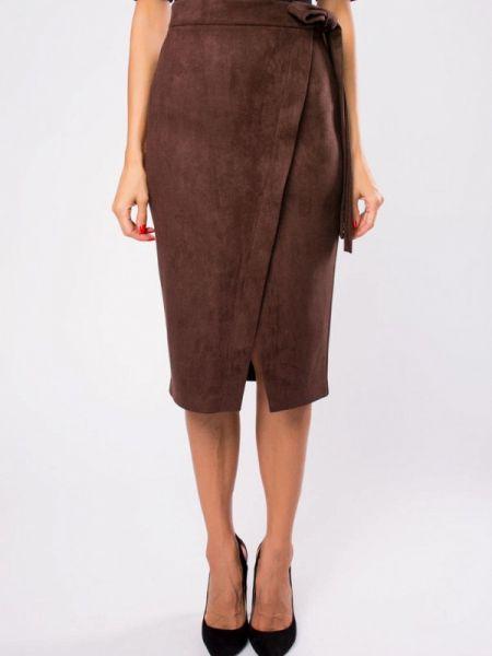 Коричневая юбка Kotis Couture