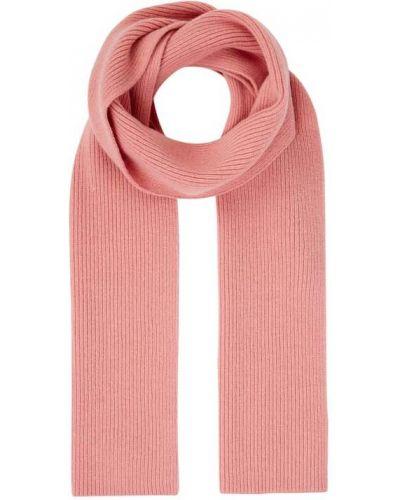Prążkowana różowa szal wełniana Hugo