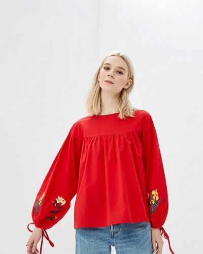 Блузка весенний красная Zeza