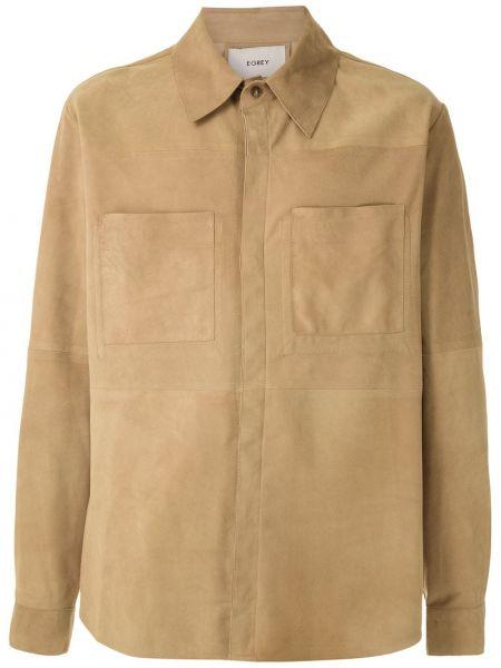 Koszula z długim rękawem klasyczna beżowy Egrey