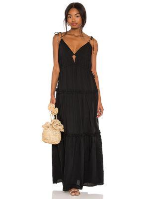 С кулиской хлопковое черное платье Karina Grimaldi