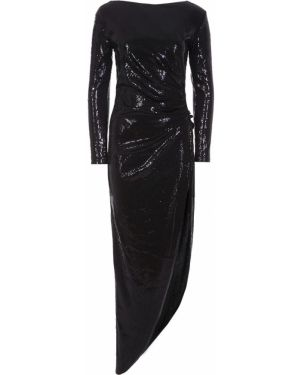 Приталенное вечернее платье с пайетками с длинными рукавами с драпировкой A La Russe