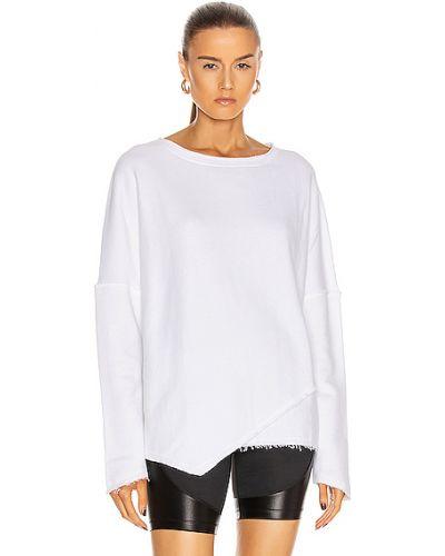Biała bluza dresowa bawełniana Alala