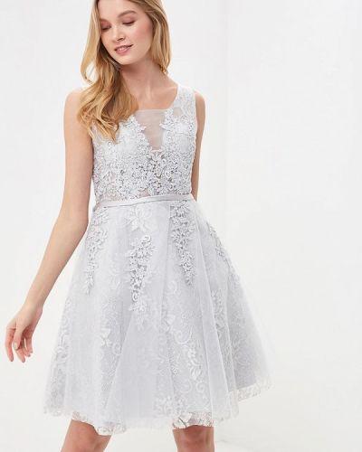 Коктейльное платье серое Paccio