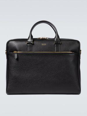 С ремешком черный кожаный портфель Tom Ford