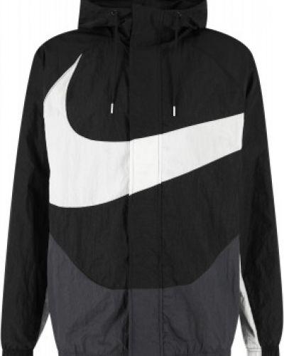Черная ветровка из полиэстера Nike