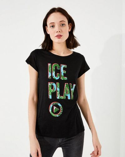 Черная футболка Ice Play