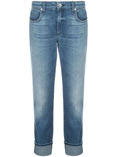 Прямые джинсы синие с подворотами Rag & Bone/jean