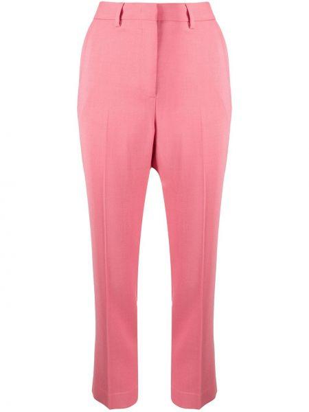 Розовые брюки с поясом с воротником Paul Smith