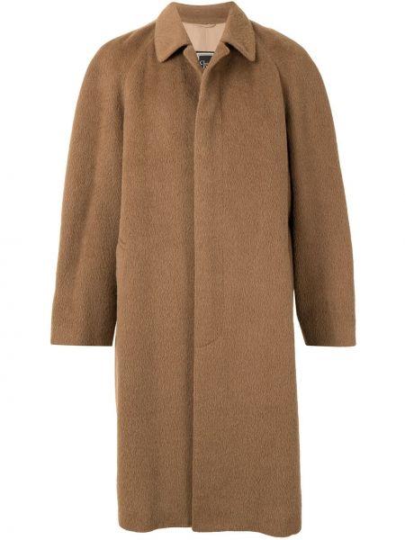 Wełniany z rękawami klasyczny płaszcz z kieszeniami z kołnierzem Christian Dior