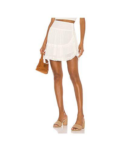 Плиссированная юбка шелковая на пуговицах Bb Dakota
