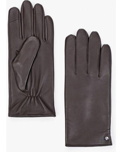 Кожаные перчатки - коричневые Roeckl
