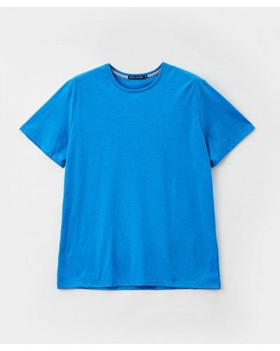 Синяя футболка с короткими рукавами Fine Joyce