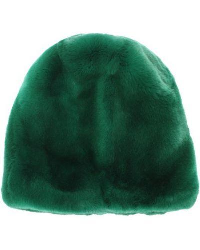 Зеленая шапка с мехом Marni