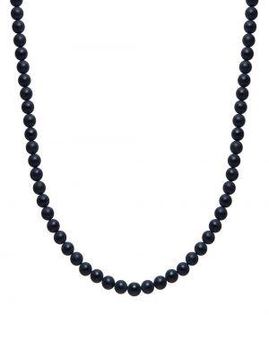 С ониксом черное ожерелье с бисером Nialaya Jewelry