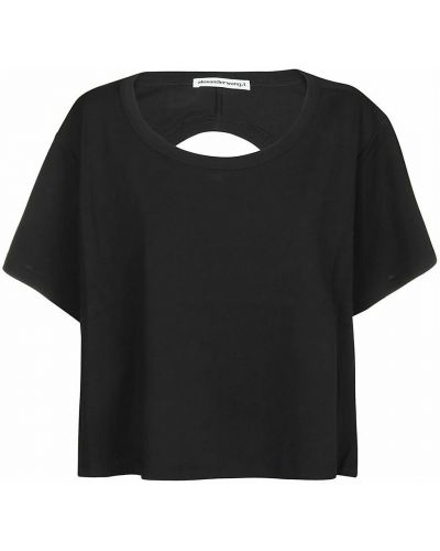 T-shirt bawełniana - czarna Alexander Wang