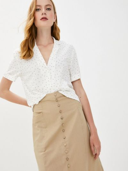 Китайская белая боди-блуза весенняя блузка Zarina