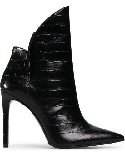 Ботильоны на каблуке - черные Eva Longoria