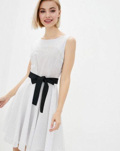 Прямое белое платье А-силуэта Vergans