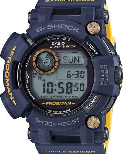 Часы водонепроницаемые с подсветкой темно-синий Casio